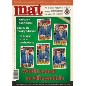 "Czasopismo szachowe ""Mat"" nr 5-6/ 2018 (77-78) (C-009)"