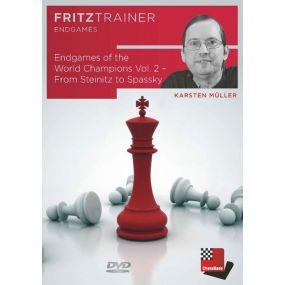 Karsten Müller: Endgames of the World Champions Vol. 2 - From Steinitz to Spassky: FritzTrainer Endgames (P-0051)