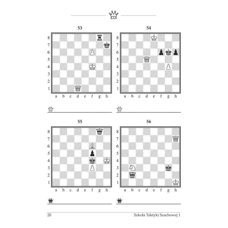 """20 x gm J. Zezulkin """"Szkoła Taktyki szachowej. Pierwszy rok nauczania. Proste maty. Mat w 1 posunięciu"""" (K-3685/1/20)"""