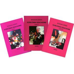 "Zestaw 3 książek ""Końcówki szachowe - część I, II, III"" - Bogdan Zerek (K-34/kpl)"