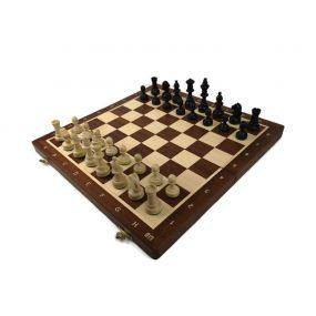 Szachy turniejowe składane nr 4 intarsja mahoń (S-11/T)