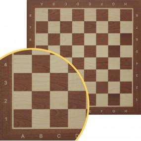Szachownica profesjonalna drewniana nr 5 mahoń intarsja- standard turniejowy (S-8)