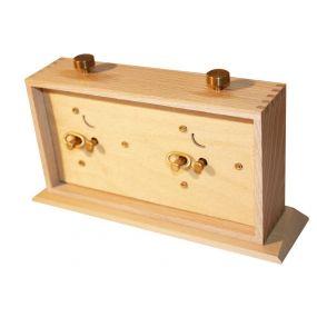Zegar szachowy BHB drewniany z podstawką (ZS-7/Jasny)
