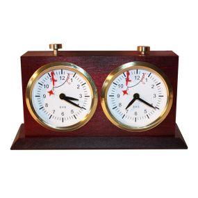 Zegar szachowy BHB drewniany z podstawką (ZS-7/Ciemny)