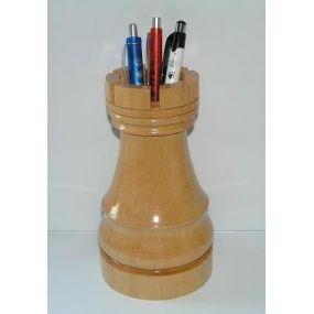 Przybornik drewniany w kształcie wieży (A-8/f)