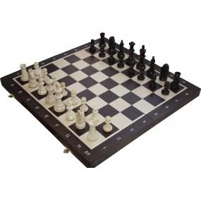 Szachy turniejowe składane nr 5 wenge intarsja (S-12/w)