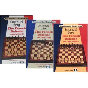 Berg Emanuel. Arcymistrzowski Repertuar. French Defence 3 tomy ( K-3607/kpl)