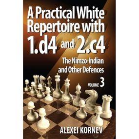 """A.Korniew """"Praktyczny repertuar dla białych z 1.d4 i 2.c4"""" Zestaw 3 tomów ( K-3598/A/kpl )"""
