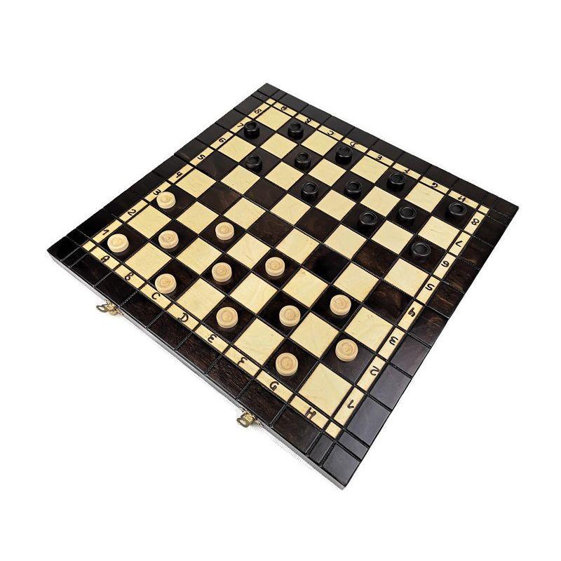 Zestaw 3 w 1: Szachy + Warcaby + Tryktrak zestaw średni 35 x 35 cm (O-0001/S)