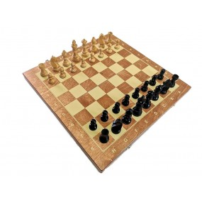 Szachy turniejowe składane  nr 5 czarne Exclusive (S-16/IIc)