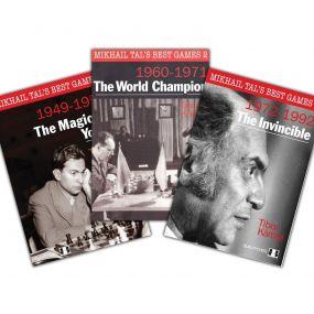"T.Karolyi, N.Aplin ""Mikhail Tal's best games"" cz. 1 + cz. 2  + cz. 3 ( K-3300/kpl )"