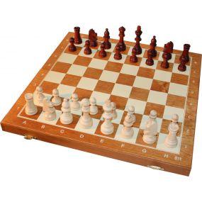 Szachy drewniane magnetyczne rozmiar turniejowy nr 4 (S-101)