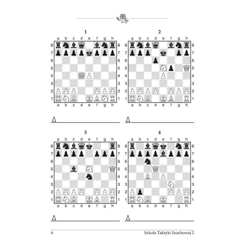 """Kompletny zestaw ćwiczeń dla początkujących """"Szkoła Taktyki Szachowej krok po kroku  część 1 - 3 ( K-3685/kpl)"""""""