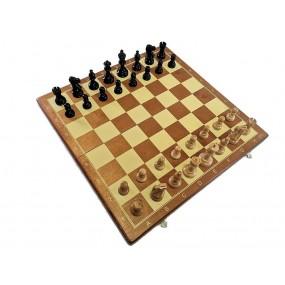 Szachy turniejowe składane  Nr. 6 AMERICAN czarne (S-162)