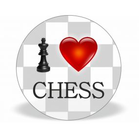 """Magnes """"I LOVE CHESS""""  (A-84)"""