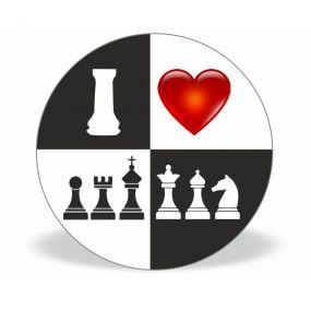 """Przypinka """"B&W"""" szachownica (A-86)"""