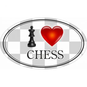 Naklejka I Love Chess (A-93)