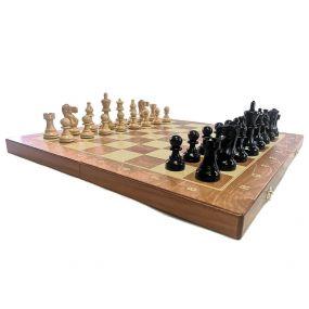 Szachy turniejowe składane  Nr. 5 AMERICAN czarne (S-172)