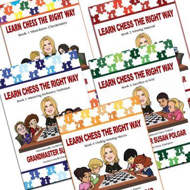 Zestaw 5 książek Learn Chess The Right Way: Book 1-5 (K-5349/set)