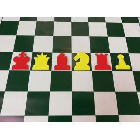 Figury do szachownicy demonstracyjnej CZERWONE (S-188/C)